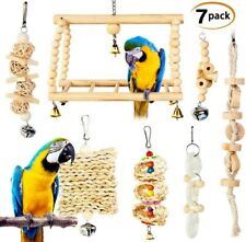 Petplus Bird Toys Parrots Parakeet Toys,Bird Swing Puzzle Bird Cage Accessories