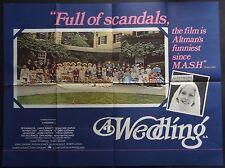 A WEDDING ORIGINAL 1978 QUAD POSTER ROBERT ALTMAN CAROL BURNETT DESI ARNAZ