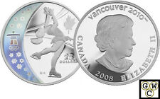 2008 Olympic Figure Skating Proof $25 Hologram Silver (12102)