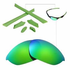 New Walleva Polarized Emerald Lenses And Rubber Kit For Oakley Half Jacket