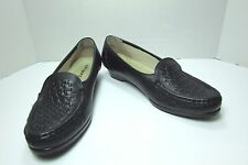 Women's Softspots Black Leather Loafers Size US 8 N