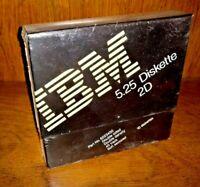 Vintage box of 10 IBM 5.25 2D Floppy Disks / Diskettes New Sealed