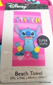 STITCH and LILO Beach Towel Extra Soft 1PC Cute and Comfy HAWAII 27in x 54 in