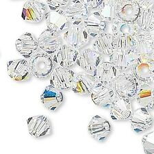 144 Swarovski Crystal 6mm Xilion Faceted Bicone Double Cone Beads W/ Facets A-K