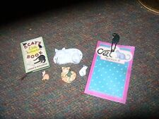 Misc'l lot of Cat items - Books/Magnets/Cat Hook/Ornament
