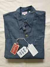NWT LVC Levi's Vintage Clothing 1920s 2-pkt Sunset Chambray Shirt Made in USA S