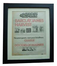 More details for barclay james harvest+festival+poster+ad+original 1976+framed+express world ship
