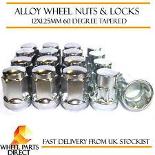 Wheel Nuts & Locks (12+4) 12x1.25 Bolts for Nissan Terrano [Mk1] 87-96
