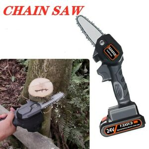 Electric Cordless Chainsaw Chain Saw Home Garden Multi Power Wood Cutter Tools
