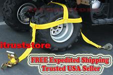 Polaris XP 1000 900 800 XP4 RZR Wheel Tire Bonnet Ratchet Strap Tie Down Set