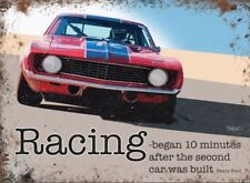 Ford Racing car metal advertising sign 15x20cm wall plaque