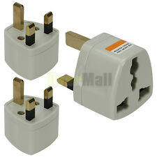2 x Universal AU/US/EU to UK AC Wall Power Travel Plug Socket Converter Adapter