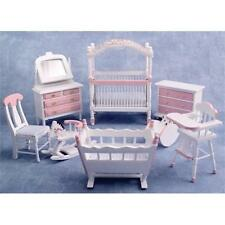 Pink Nursery Furniture Set 1:12 Scale for Dolls House DF899P