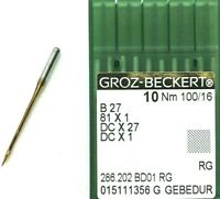 GROZ BECKERT DCX27 SAN 10 B:27 NM:60//8 INDUSTRIAL OVERLOCK SEWING MACHINE NEEDLE