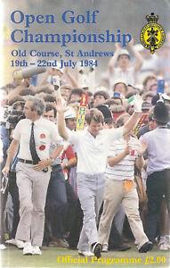 1984 OPEN GOLF PROGRAM-SEVE BALLESTEROS AT ST. ANDREWS TOM WATSON ON COVER