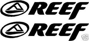 3 X REEF LOGOS GRAPHICS STICKERS DECALS SKATE SURF