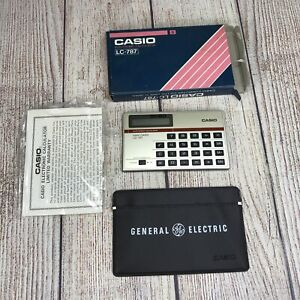 CASIO LC-787 Mini Card Electronic Calculator GENERAL ELECTRIC Advertisement NOS