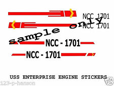 Dinky Diecast Toys USS Enterprise Engine Stickers