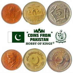 SET OF 3 COINS FROM PAKISTAN: 1, 2, 5 RUPEES. 1998-2006