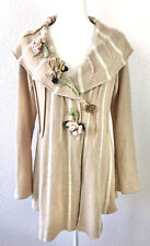 Sleeping On Snow Anthropologie Wool Cashmere Floral Bouquet Cardigan Sweater L