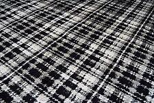 Retro Black/Grey/White Velvet Upholstery Soft Furnishing Fabric 6.8mt