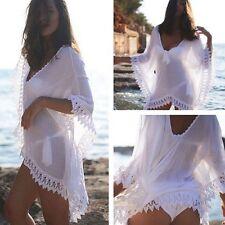 Damen Boho Bikini Cover Up Vertuschung Bademode Beachwear Bekleidung Strandkleid