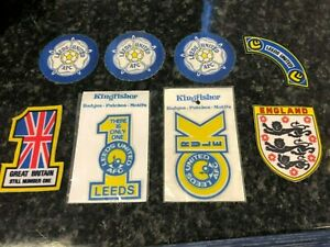 Collection Of 8 x Leeds Utd / England Coasters / Badges / Patches / Motifs