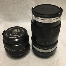 2 Canon FD Lenses 50mm Olympic Edition 135mm Portrait Converted To Canon EF EOS