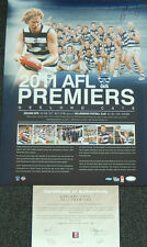 GEELONG CATS 2011 AFL PREMIERS SIGNED PRINT LING BARTEL ABLETT DANGERFIELD COREY