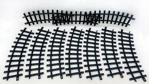 Vintage 1986 New Bright Railroad G Gauge Train Track Lot 10 Curved