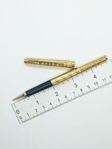 VTG gold plate Parker 180 PERLE Teardrop fountain pen - 14k f nib