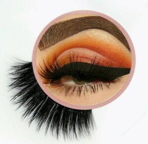 Fluffy Thick False Eyelashes BEST Mink Effect Cruelty Free Fake Lashes UK VEGAN