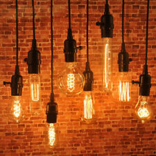 1.2m Industrial Hanging Light Holder Pendant Lamp Wire Cord Bulb Socket US STOCK