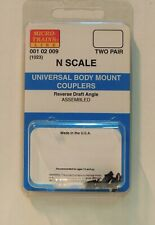 N SCALE: 2 PR. UNIVERSAL BODY MOUNT COUPLERS - ASSEMBLED - MTL 001 02 009 (1023)