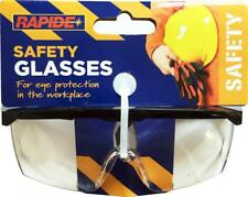 Safety Glasses With Clear Lens - Eye Health And Saftey Goggles * Brand New *