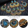 Vintage Ethnic Bohemian Women Drop Dangle Beads Tassel Ear Stud Earrings Jewelry