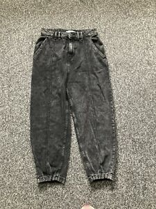 "ZARA Slate Wash balloon leg baggy slouchy jeans Size 12 (30"" Waist)"