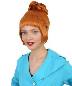Adult Brown Wig for Cosplay Despicable Me Lucy Halloween Party Costume HW-1436A