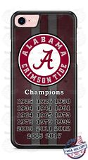 Alabama Crimson Tide Champions Football Phone Case Cover Fits iPhone Samsung etc