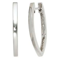 Creolen oval 925 Sterling Silber Ohrringe Silberohrringe Silbercreolen