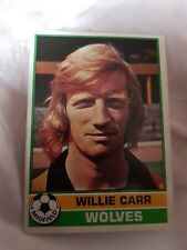 Topps Football Card 1977/1978 X Willie Carr X Wolves X Number 41 X