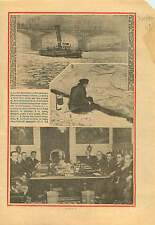 Pêcheurs Brigade Fluviale Circulation la Seine Paris France 1934 ILLUSTRATION