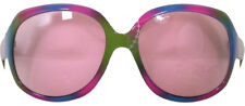 LARGE PINK & BLUE FRAMED PARTY GLASSES WITH PINK LENSES - FUN FANCY DRESS