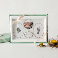 Baby Print Kit Wooden Pack- capture baby's hand and footprints with photo Gift2