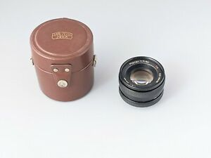 Vintage Carl Zeiss Planar 1,7/50mm T* With Original Case Made in Japan