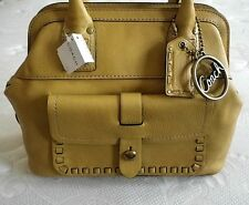 NWT COACH THOMPSON CITRINE LEATHER MULTI LEGACY TOP HANDLE DOCTOR TOTE BAG PURSE