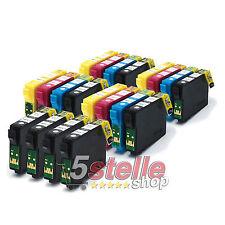 KIT 20 CARTUCCE COMPATIBILI CON CHIP PER STAMPANTE EPSON STYLUS SX130 SX 130 NEW