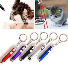 Hot Random Color 2 In 1 Red Laser Pointer Pen Funny LED Light Pet Cat Toys HG
