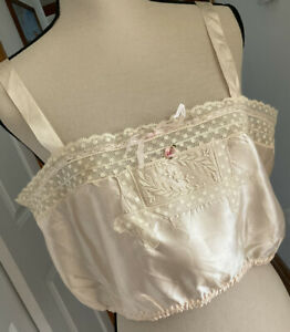edwardian nude silk and lace camisole