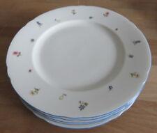 Seltmann Marie-Luise blauer Rand Streublume 6 x Speiseteller 27 cm  neu